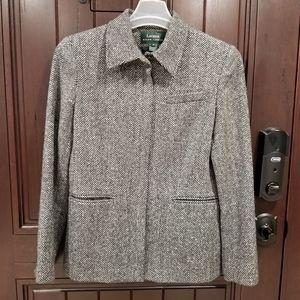 Lauren Ralph Lauren Women Sz 8 Wool Blazer Jacket